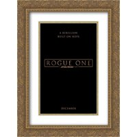 Rogue One A Star Wars Story 20x24 Double Matted Gold Ornate Framed Movie Poster Art Print