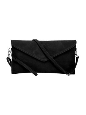 1af655999d Product Image Women s Faux Suede evening Clutch bag shoulder Handbag  messenger envelope bags Black