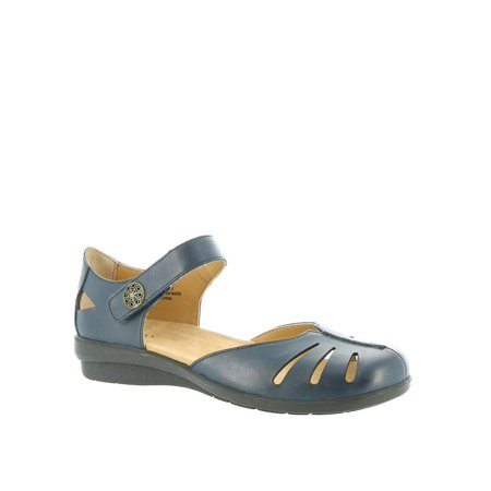 ARRAY - Array Womens Antigua Leather Closed Toe Ankle Strap Mary Jane Flats  - Walmart.com