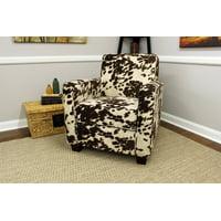 Johnston Trackarm Lounge Chair - Cowhide Black