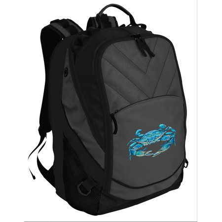 Blue Crab Backpack Padded Blue Crabs Computer Backpack