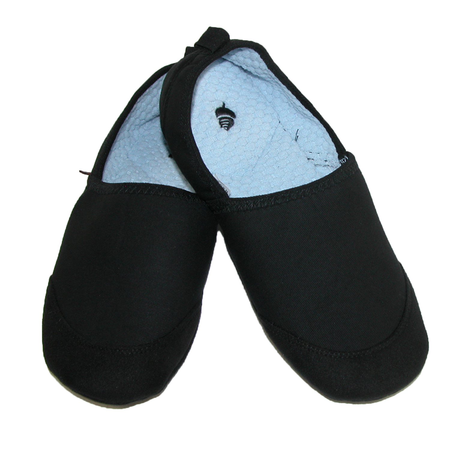 Acorn Size Xlarge Mens Pack and Go Tech Travel Slippers, Black