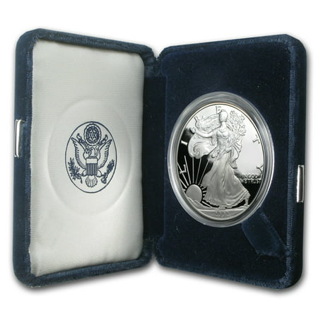 0.25 Ounce Panda Coin - 2002-W 1 oz Proof Silver American Eagle (w/Box & COA)