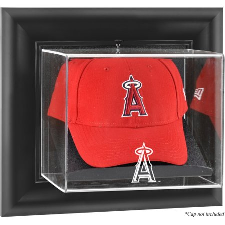 Anaheim Angels Cap - Los Angeles Angels Fanatics Authentic Los Angeles of Anaheim Black Framed Wall-Mounted Logo Cap Display Case - No Size