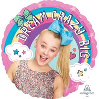 """JoJo Siwa 18"""" Balloon (1), Balloons sold flat. Helium tanks and air pumps can be purchased separately on our site. By Mayflower Products"""