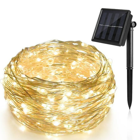 72ft 200 LED Solar Rope Light Sensor Strip String Outdoor Garden Xmas Party Lam (Glass Solar String Lights)