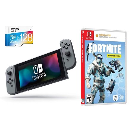 Nintendo Switch Battle Royale Fortnite Starter Bundle 1000 V Bucks Deep Freeze Set Frostbite Skin Nintendo Switch 32gb Gaming Console With Gray
