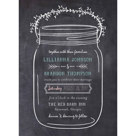 Mason Jar Standard Wedding Invitation](Halloween Wedding Invitations Wording)