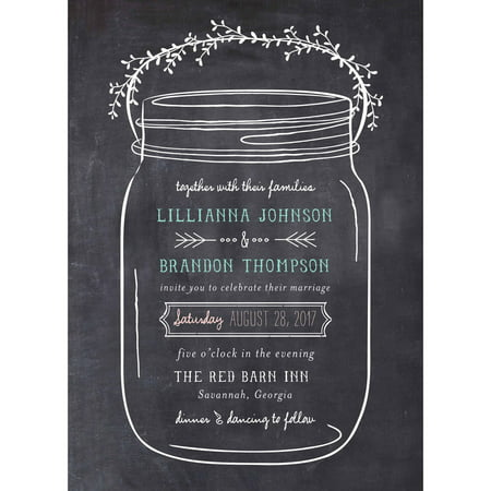 Mason Jar Standard Wedding Invitation (Teapot Invitations)