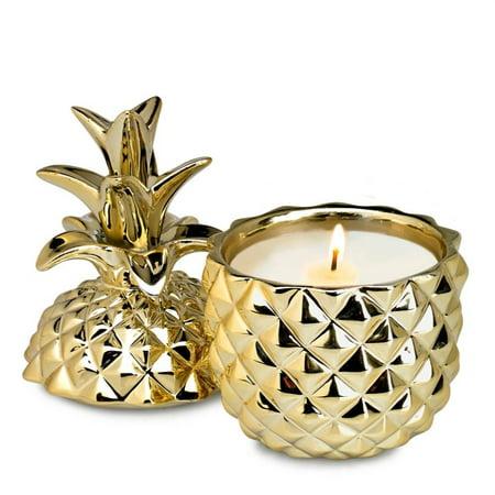 Golden Ceramic Pineapple Candle  - image 1 de 3