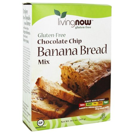 Now Foods   Living Now Gluten Free Chocolate Chip Banana Bread Mix   10 2 Oz Pack Of 2