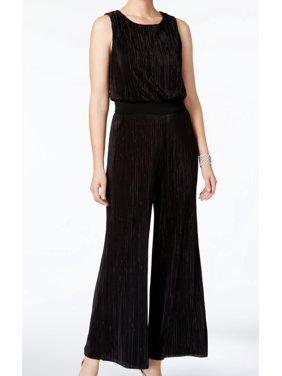 Connected Apparel NEW Black Womens Size 10P Petite Blouson Jumpsuit