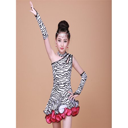 Toddler Kids Girls Latin Ballet Dress Party Dancewear Ballroom Dance Costumes (Ballroom Costumes)