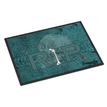 RIP Rest in Peace with spider web Halloween Door Mat Doormat - Halloween Welcome Mat