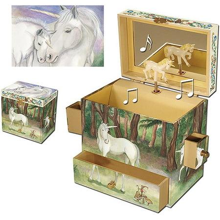 Enchantmints Unicorn Musical Jewelry Box - Little Girls Jewelry Boxes