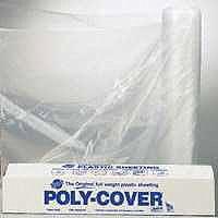 LBM Poly 6X10-C Polyfilm, 6 mil T, 10 ft W x 100 ft L, Clear, Plastic per ROLL - Roll Plastic