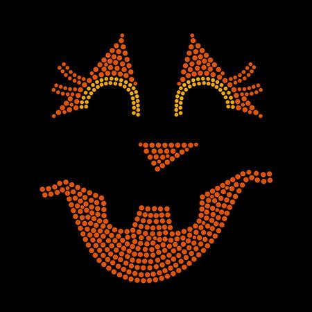 Jackie Lantern Halloween Face Iron On Rhinestone Transfer](Printable Halloween Iron On Transfers)