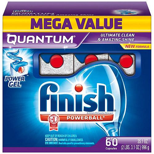 Finish Quantum Dishwasher Detergent, 60 Count