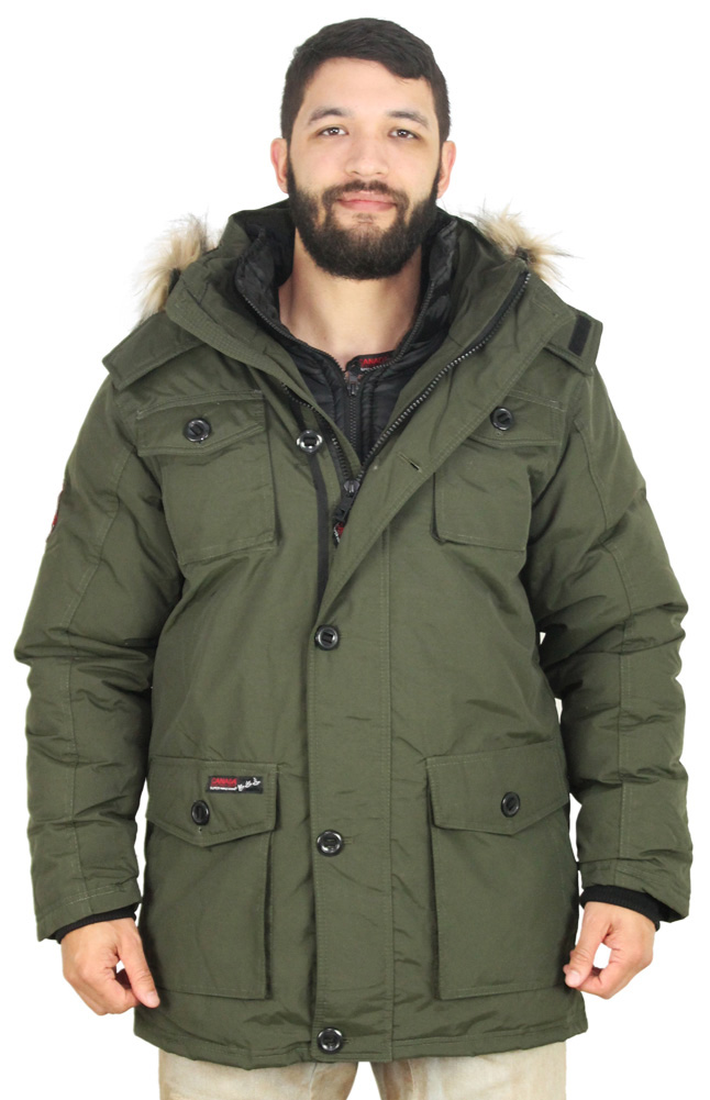 Canada Weather Gear Goose Men's Vestee Down Parka Jacket Coat ...