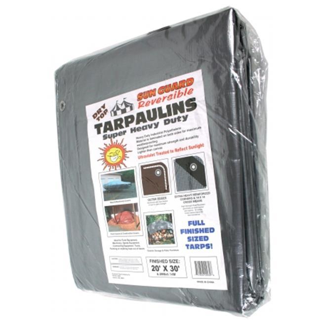 Dry Top Tarpaulins 22030 20' X 30' Silver & Brown Super Heavy Duty Polyethylene Tarp