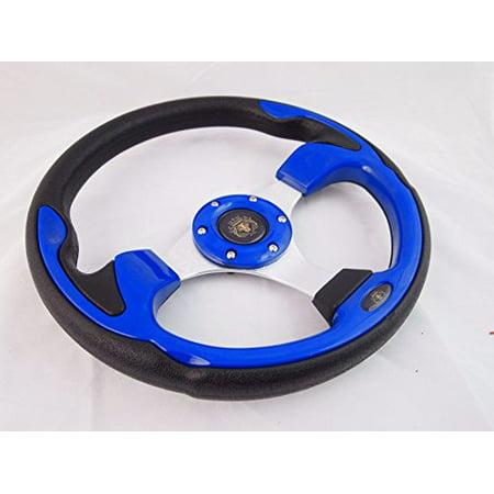 New World Motoring CLUB CAR PRECEDENT Blue steering wheel golf cart With Adapter 3 -