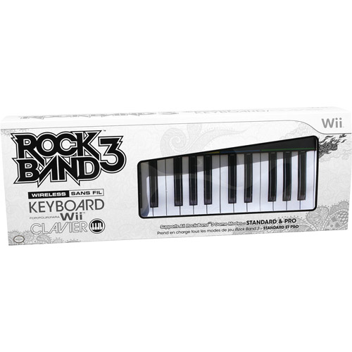 Mad Catz Rock Band 3 Wireless Keyboard - Musical keyboard - wireless - for Nintendo Wii