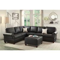 Miraculous Leather Sectional Sofas Walmart Com Machost Co Dining Chair Design Ideas Machostcouk