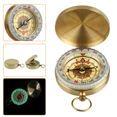 Golden Compass Watch for Directions & Sailing, Mini Compasses Brass Keychains Best Survival Watch Classic Pocket Compass, Military Kids Compass Navigation Tool Vintage for Hiking Camping (Best Cassette For Climbing)