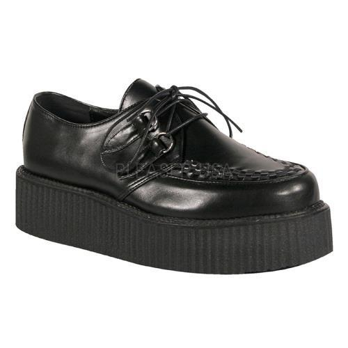 V-CRE502 B PU Demonia Creepers Unisex Shoes BLACK Size: 9 by