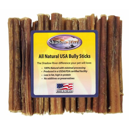 25 pack 6 inch thick all natural beef bully sticks for dogs by shadow river. Black Bedroom Furniture Sets. Home Design Ideas