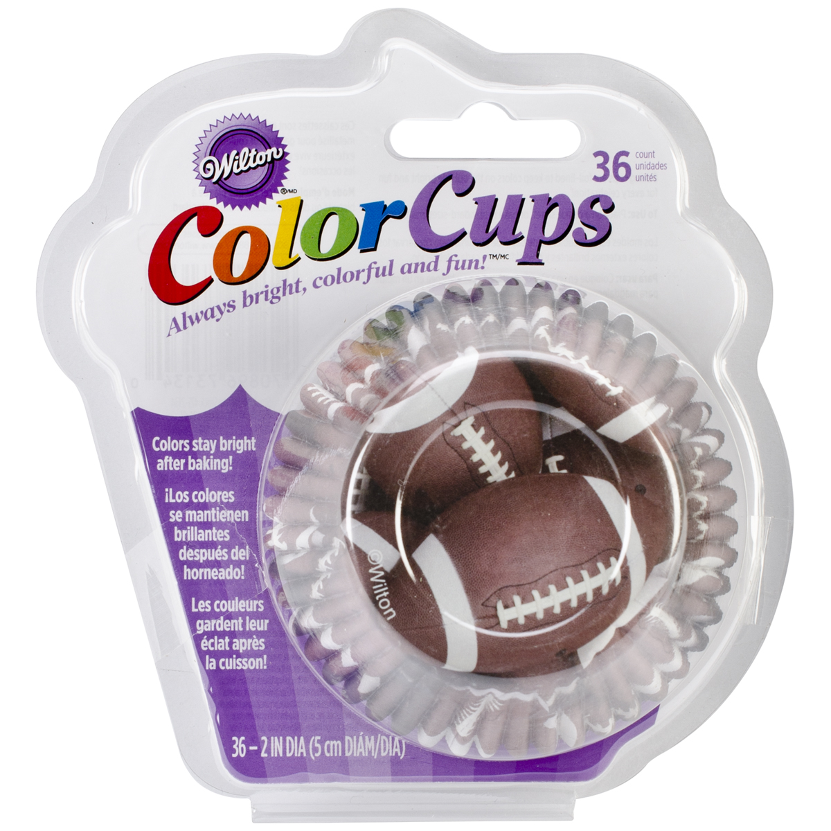 ColorCup Standard Baking Cups-Football 36/Pkg