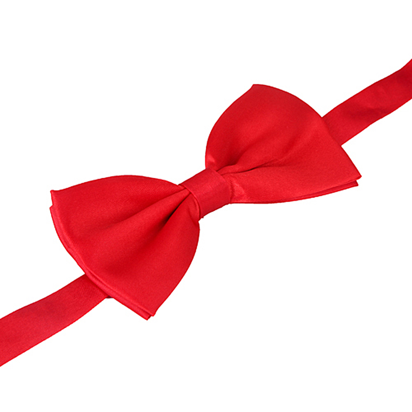 HDE Pre-tied Bowtie Adjustable Satin Polyester Bow Tie for Tuxedo Wedding Party and Other Occasions (Red)