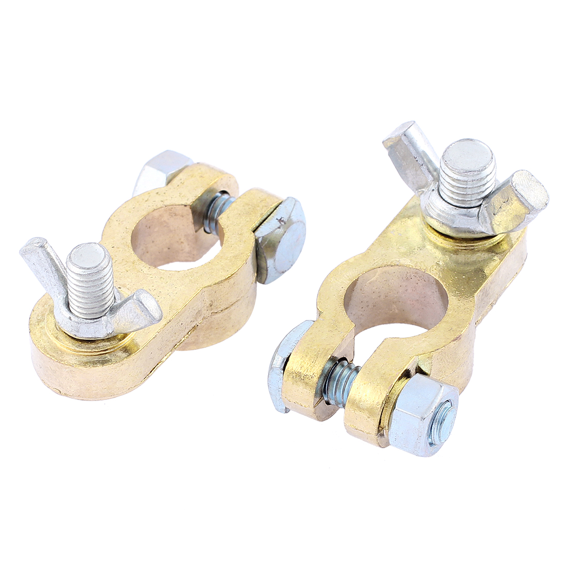 2 Pcs Repairing Part Screw Straight Type Battery Terminals Connector for Car