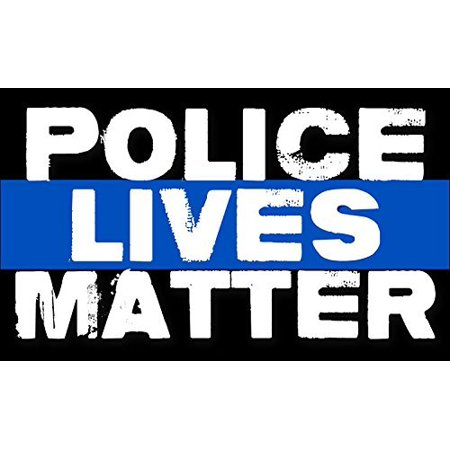 POLICE Lives Matter Sticker (bumper pro cop thin blue line)](Police Badge Stickers)