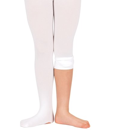 Theatricals Girls Convertible Tights with Smooth Self-Knit Waistband (Girls Sheer Tights)