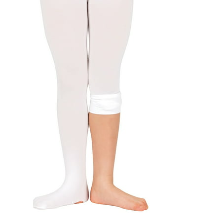 Theatricals Girls Convertible Tights with Smooth Self-Knit Waistband - Girls In White Tights
