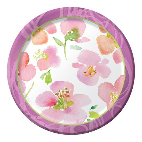 Club Pack of 96 Warm Flora Disposable Paper Party Banquet Dinner Plates 10""
