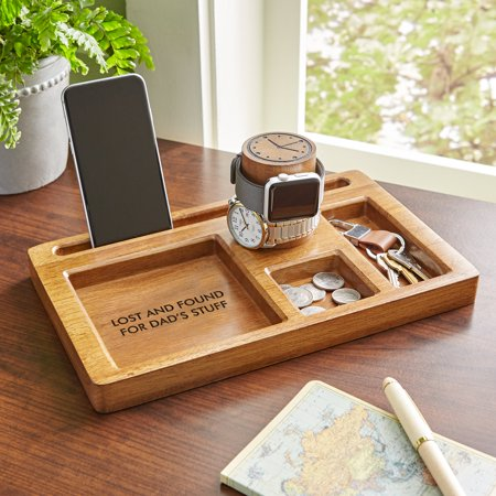 Personalized Clip Watch - Personalized Wood Watch Tower Organizer
