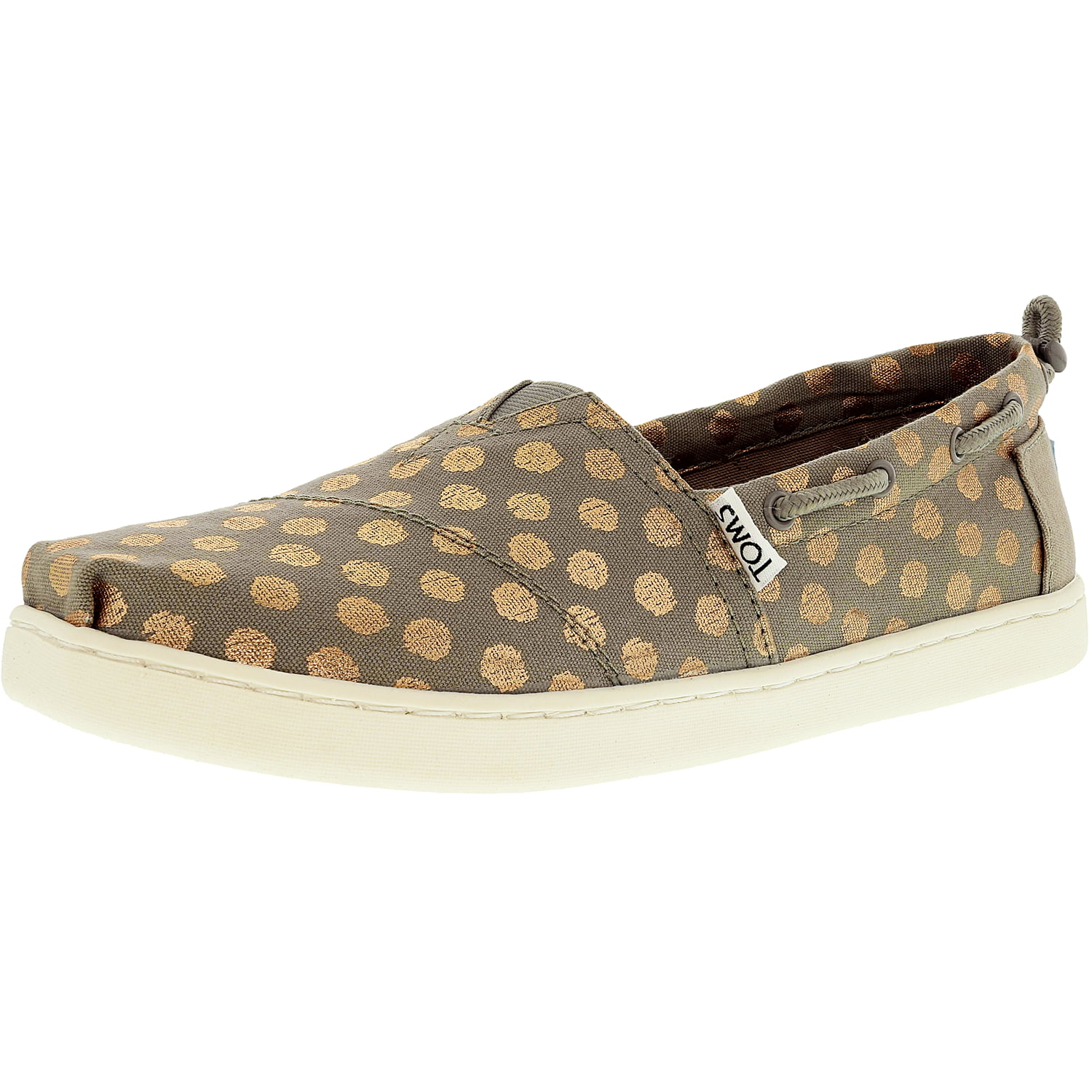243f3e485e6 Toms - Toms Bimini Canvas Drizzle Grey Rose Gold Foil Polka Dot Ankle-High  Canvas Flat Shoe - 12M - Walmart.com