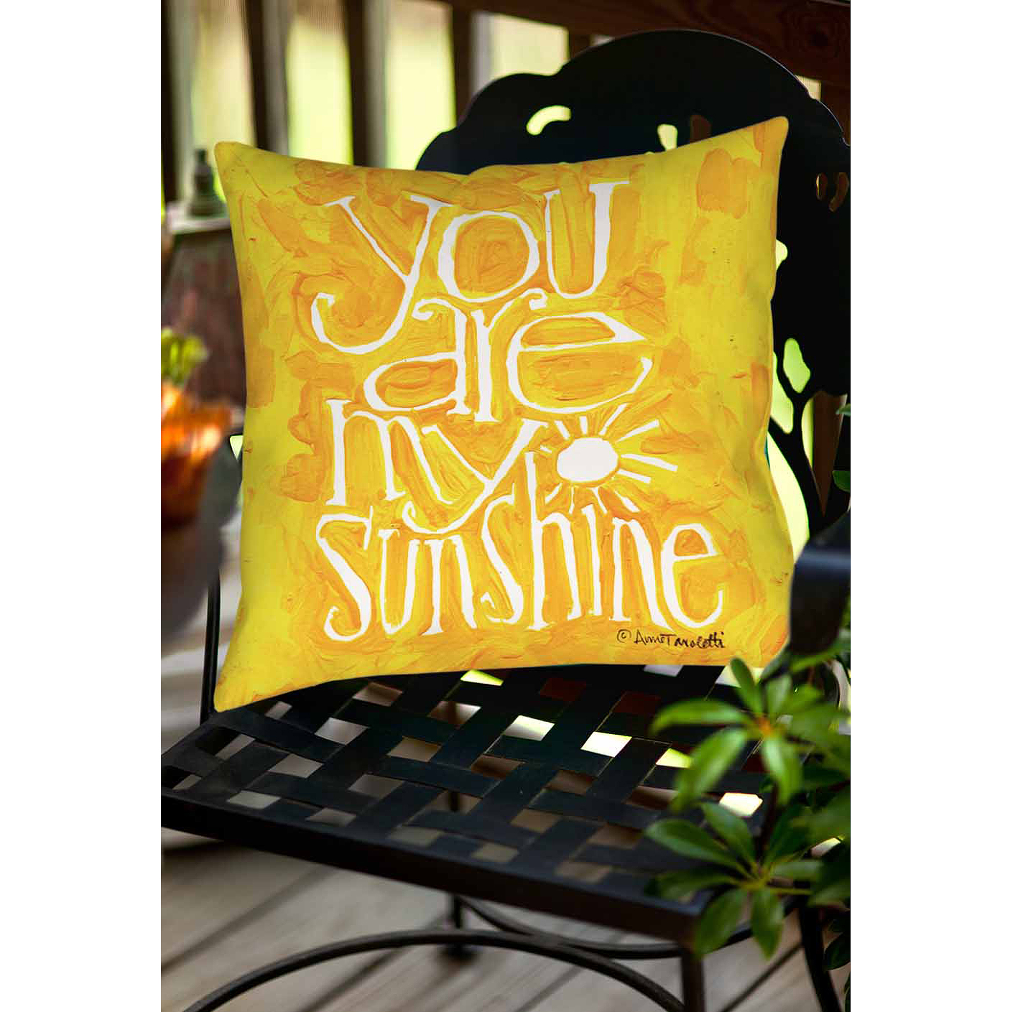 Thumbprintz You Are My Sunshine Indoor/Outdoor Pillow, ...