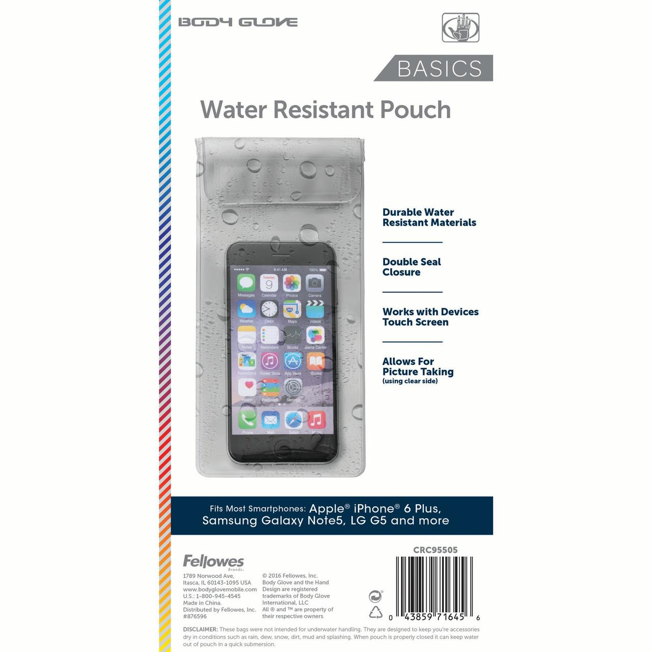 Body Glove Cell Phone Case Universal Water-Resistant Pouch