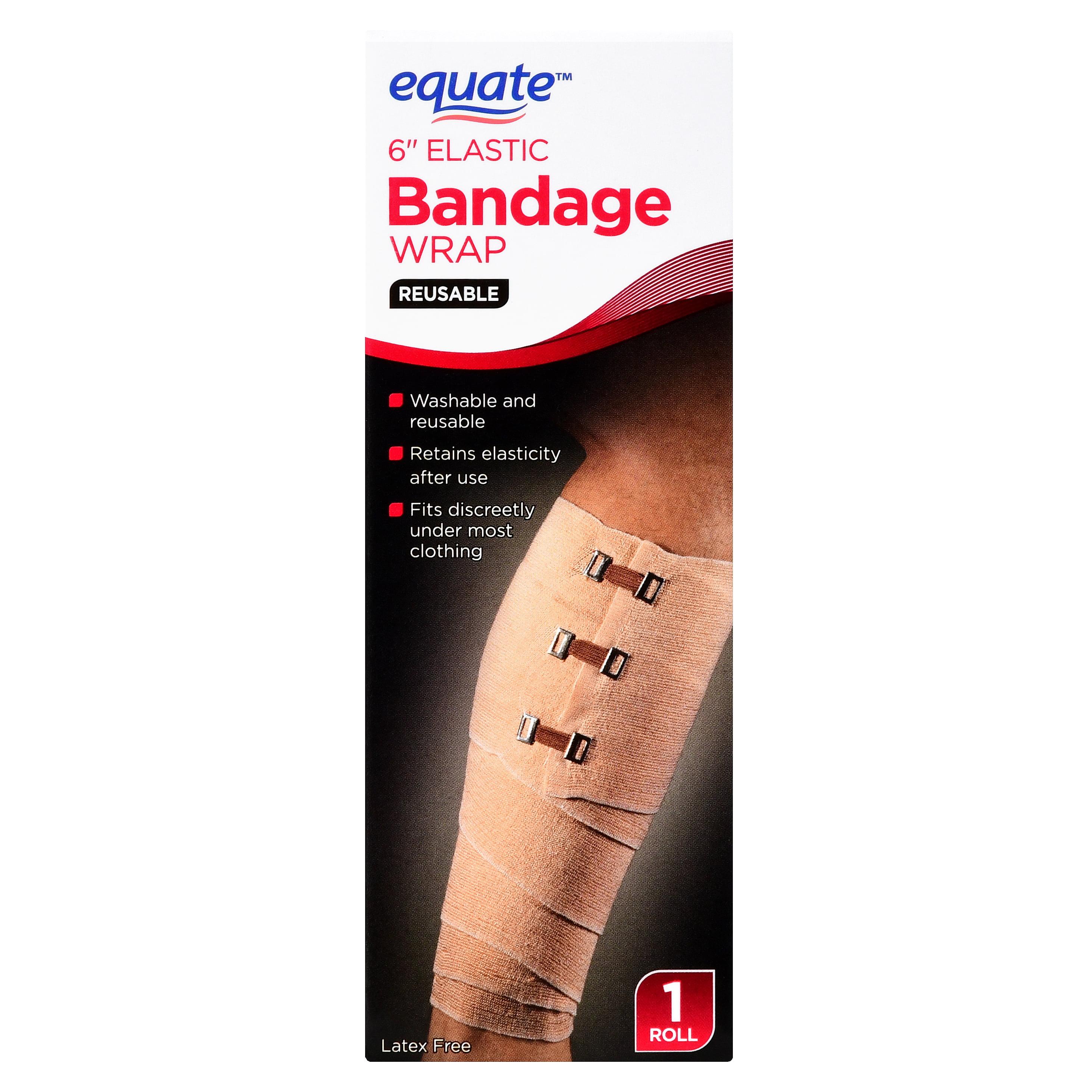 "Equate Reusable Elastic Bandage Wrap, 6"", 1 Roll"