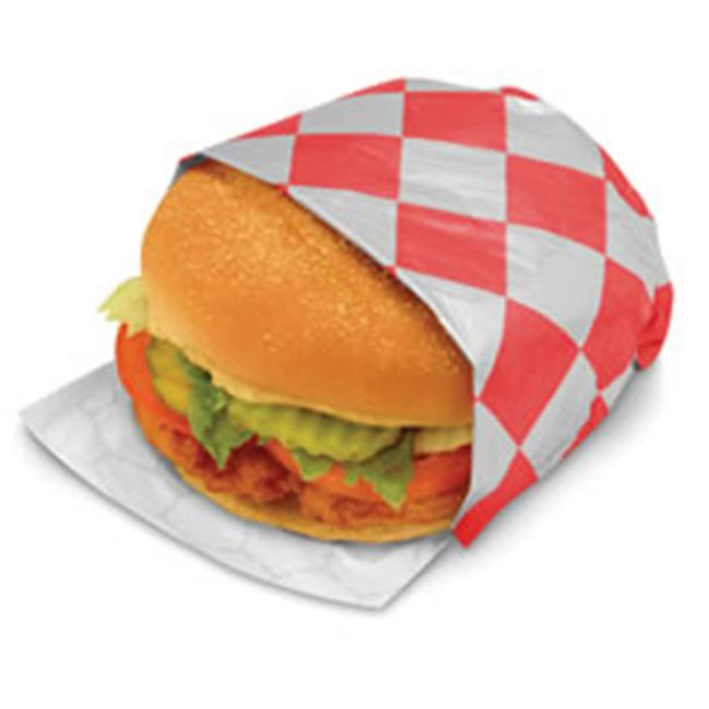 BGC 300842 10.5 x 14 in. Sandwich Wrap Paper, Red Check by Bgc