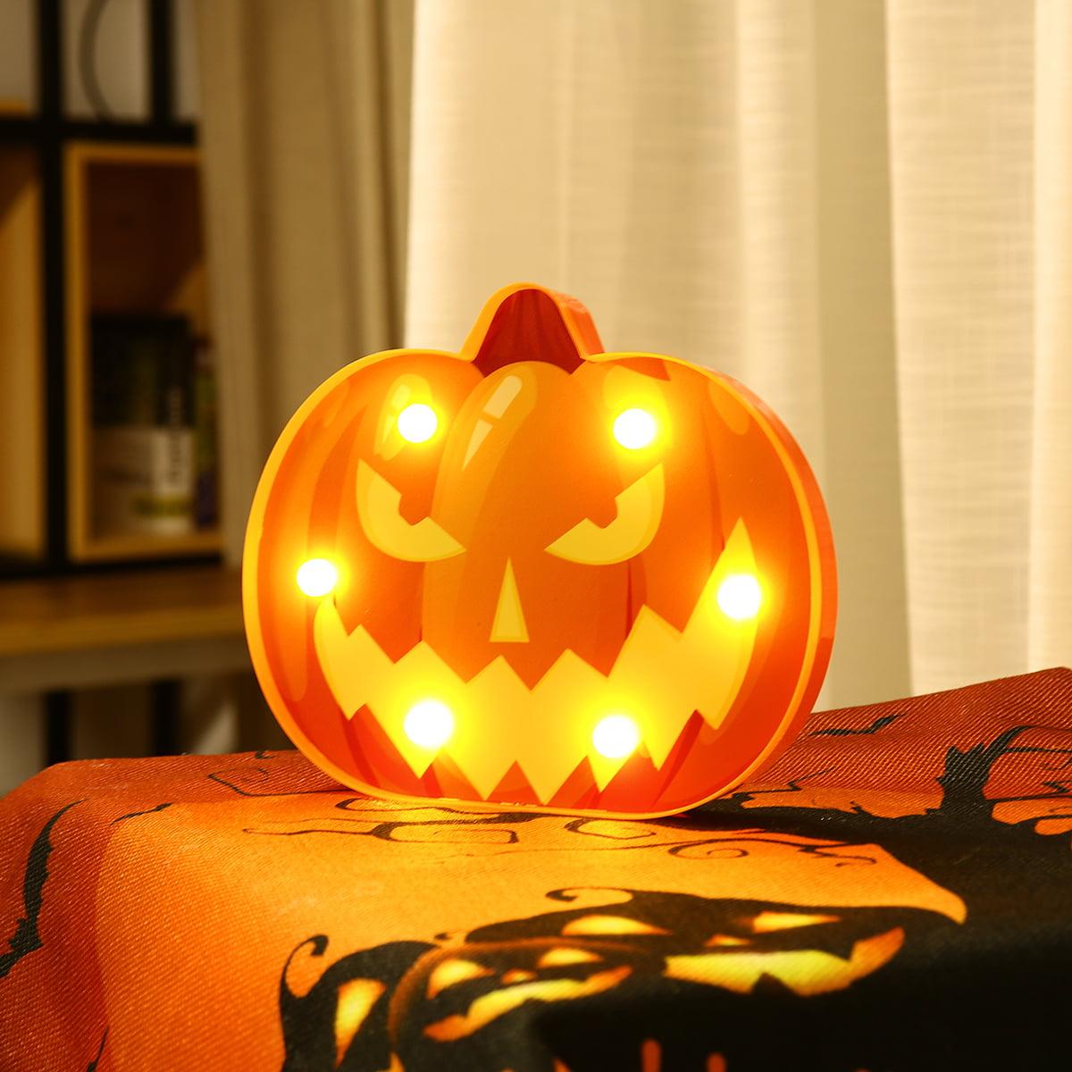 Small Pumpkin Skull LED String Light Halloween Home Decoration 12 Ct