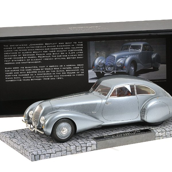 1939 Bentley Embiricos Dark Grey Metallic Limited to 999pc 1/18 Model Car by Minichamps