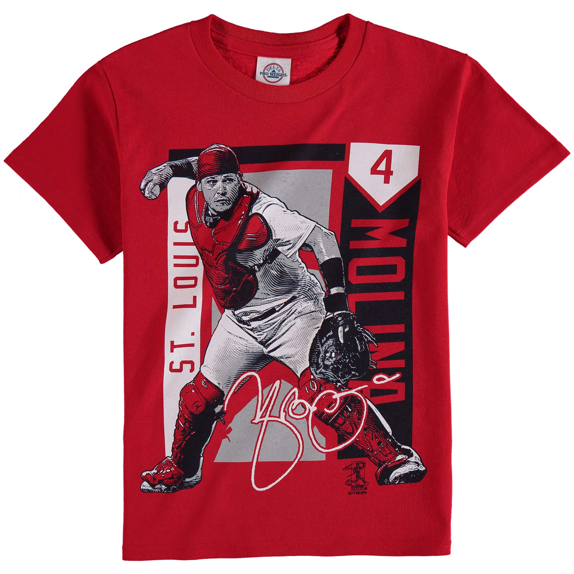 Yadier Molina St. Louis Cardinals Youth Color Block Player Series Graphic T-Shirt - Red