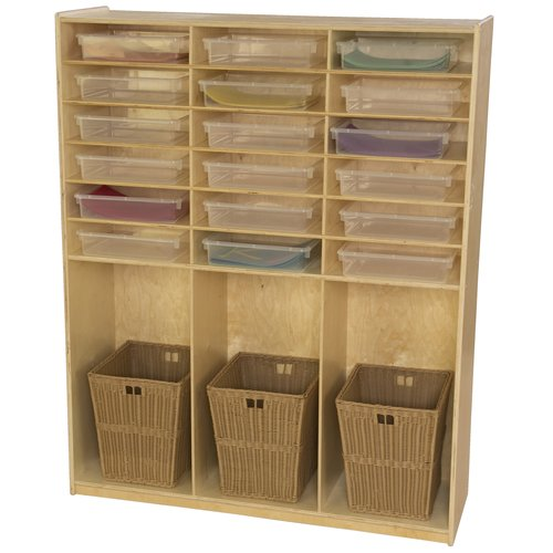 Wood Designs 21 Compartment Cubby with Trays