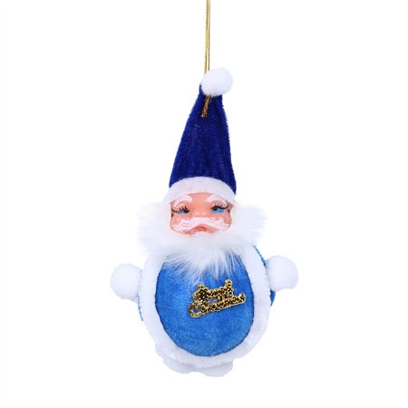 1PC Colorful Christmas Santa Claus Ornaments Xmas Tree Hanging Decoration