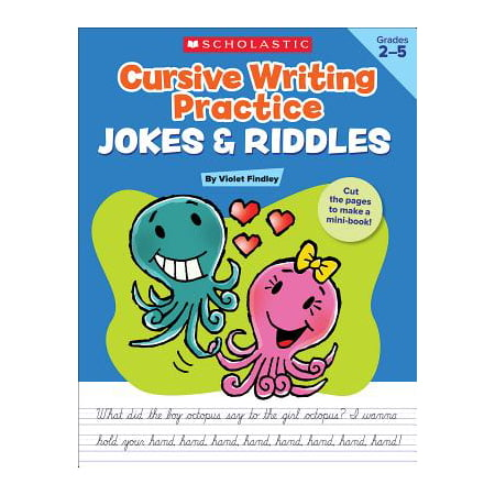 Cursive Writing Capital Letters (Cursive Writing Practice: Jokes & Riddles)