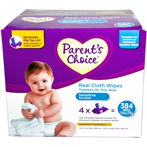 Parent's Choice - Ultra Soft & Gentle Baby Wipes, 384ct